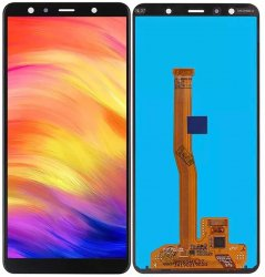 Samsung Galaxy A7 SM-A750F Amoled Skärm LCD display - Refurbish original - Svart