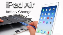iPad Air 1 display & batteri byte (paket)