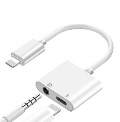 Apple Lightning till/och 3,5 mm iPhone/iPad Adapter