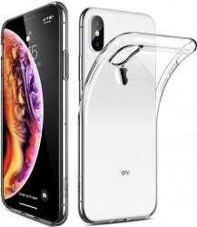 iPhone XS Max A1921 Mjukt skal i stilrent och transparent TPU