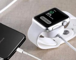 2-i-1 Laddare för Apple Watch & iPhone. Magnetisk & Lightning.