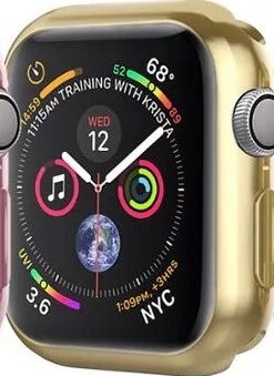 Apple Watch 4 Heltäckande Ultratunn TPU Skal i chrome (40mm boett)7 olika färger