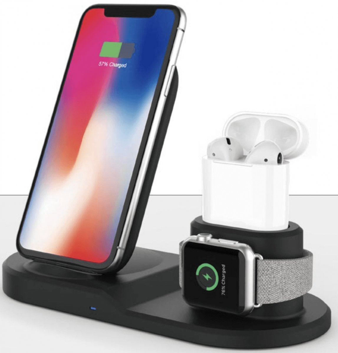 QI snabbladdare 3 i 1 iPhone, Apple Watch, AirPods